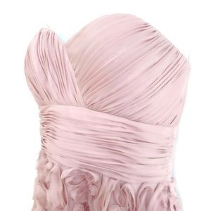JS Collections Dress Blush Pink Ruched Rosette 6